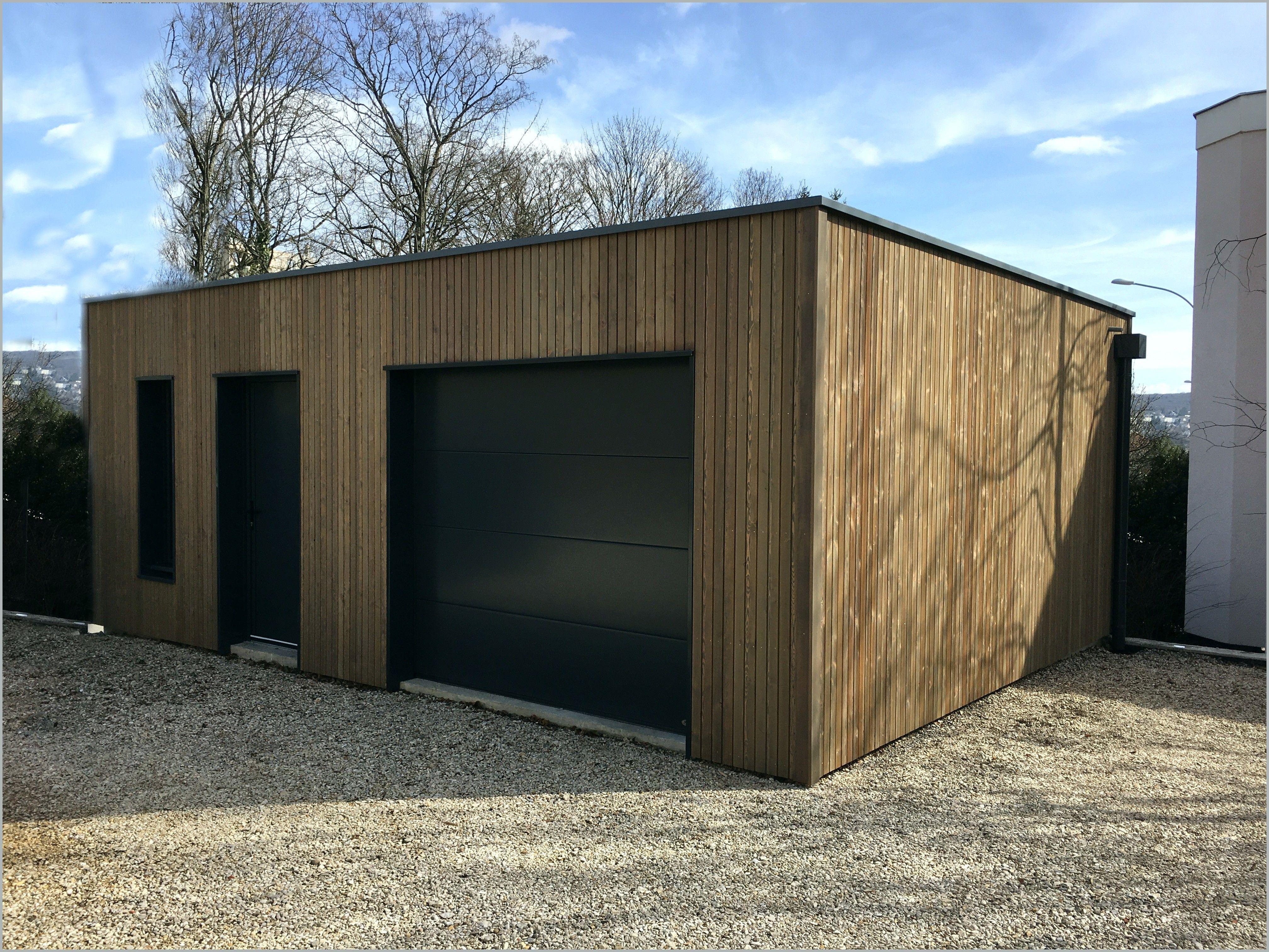 Garage Bois Ou Parpaing Plaisant Id Es En 2020 Garage Bois Garage Bois Toit Plat Parpaing