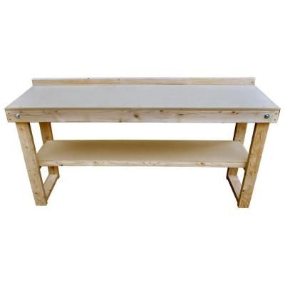 Signature Development 72 In Fold Out Wood Workbench Garage WorkshopWood BenchesHome