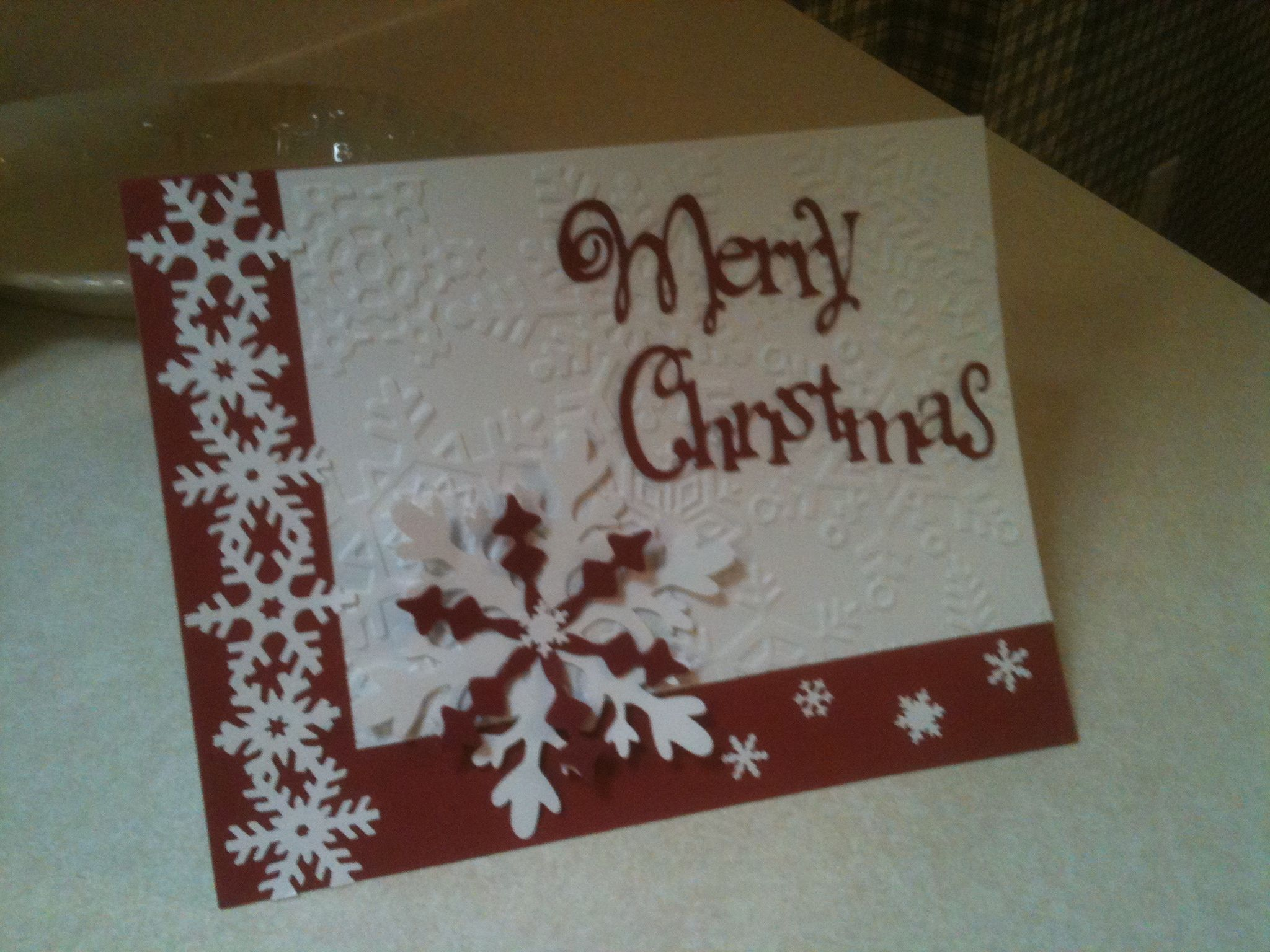 Christmas card made with cricut! Christmas cards