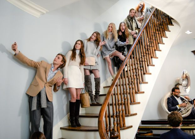 Attractive people taking a staircase selfie at the presentation. Photo: BFA