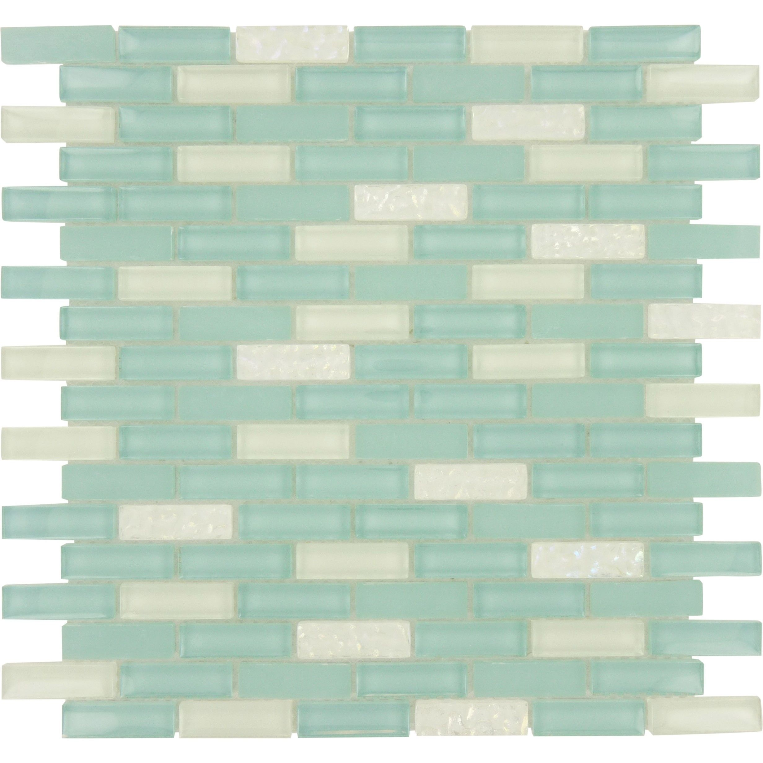 """Sheet Size: 11 3/4"""" X 11 7/8"""" Tile Size: 5/8"""" X 1 7/8"""