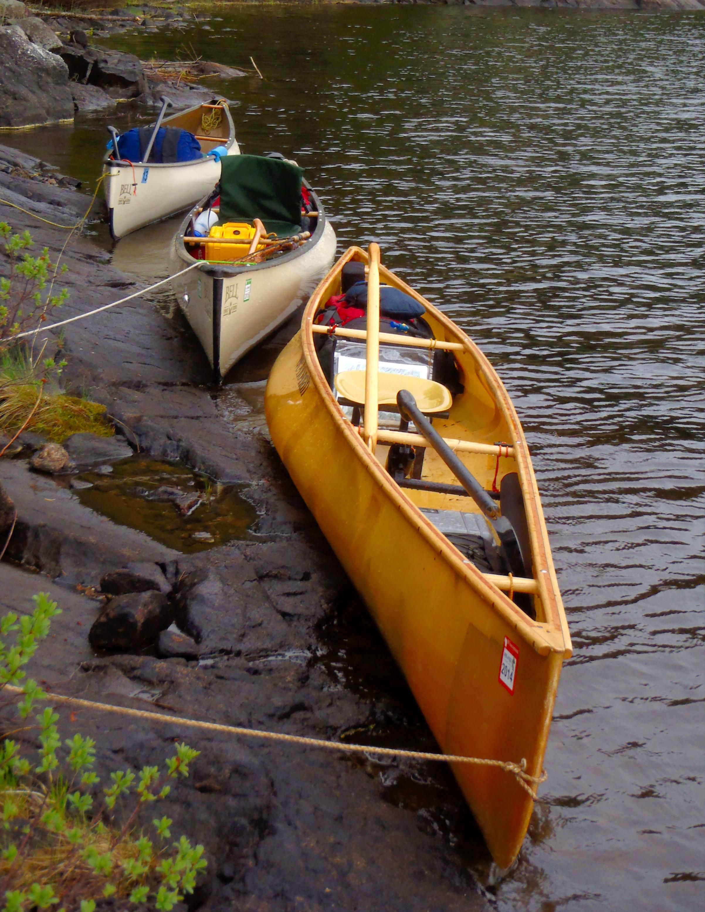 BWCA Setting up a solo canoe tips Boundary Waters Private