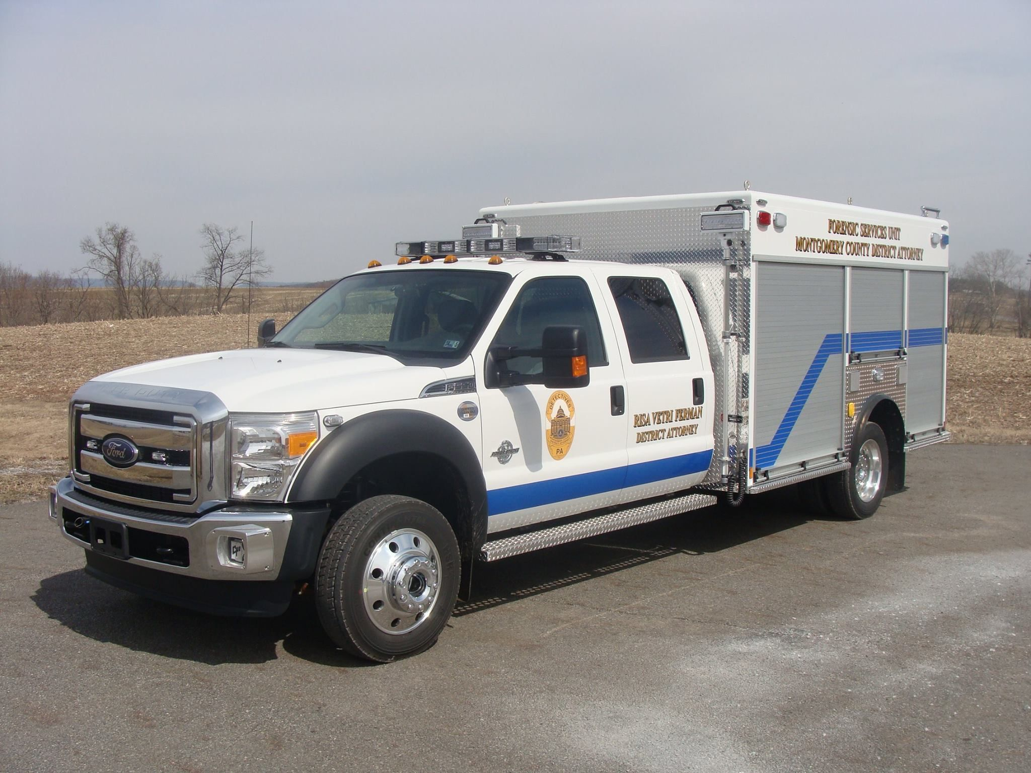 Montgomery County Pa District Attorneys Office Forensic Unit 2013 Ford F 550 Swab Police Truck Police Cars Emergency Vehicles