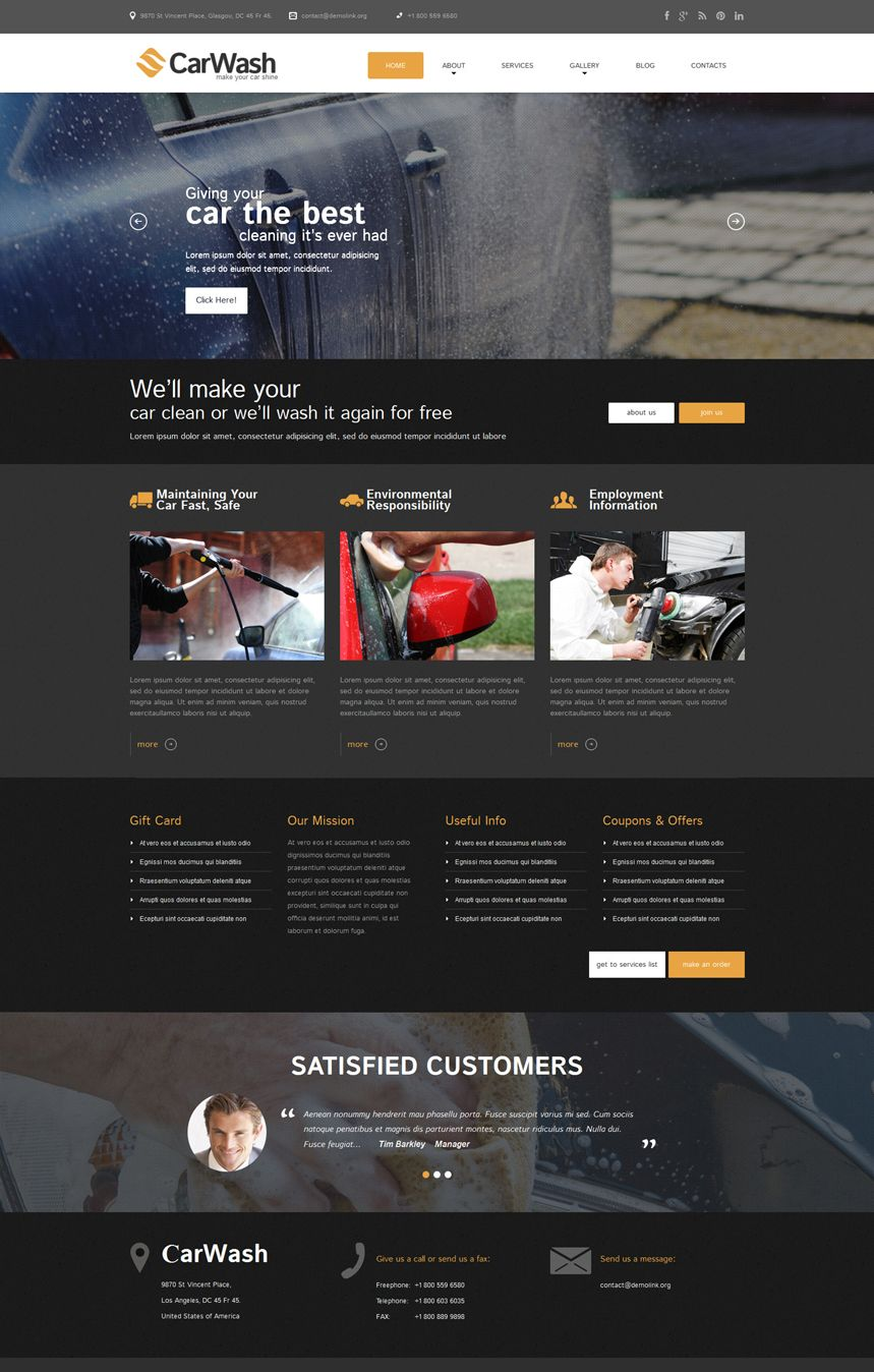 car #wash #WordPress #theme | Web design | Pinterest