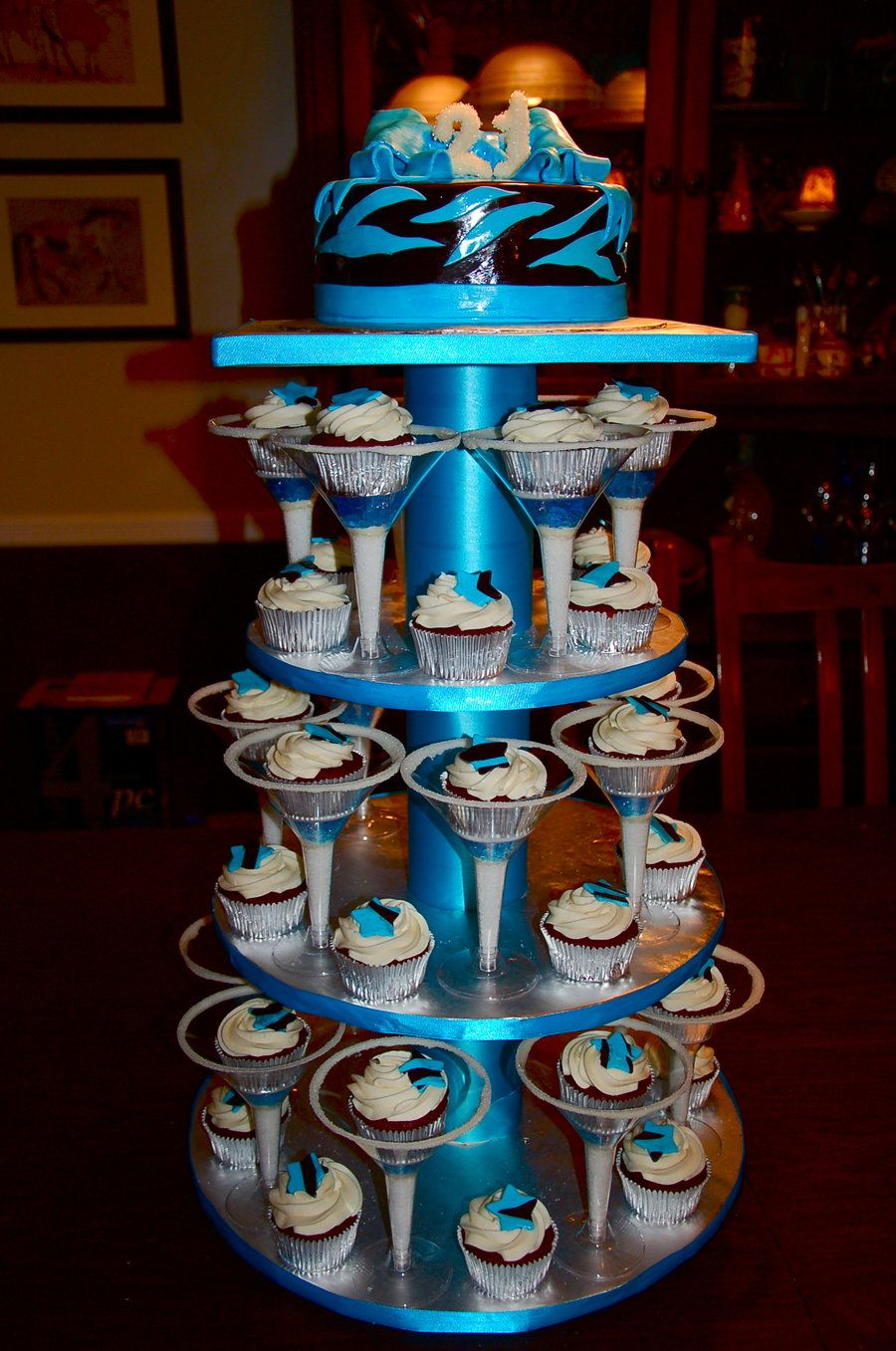 21st birthday cupcakes full display by KeepItSweetdeviantartcom