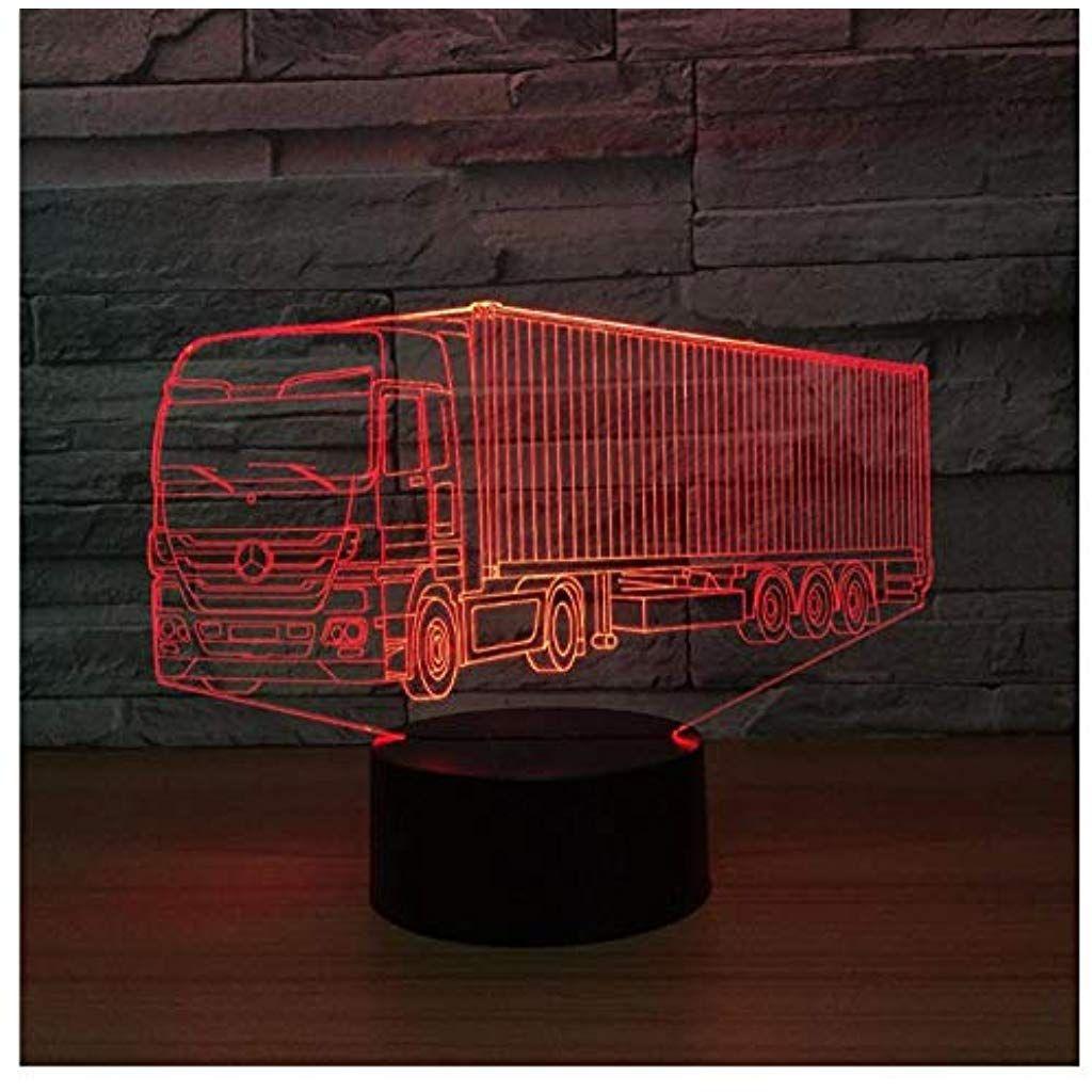 Nachtlichter Fur Kinder Container Lkw 3d Led 7 Colorsnew Fernbedienung Schreibtisch Schlafzimmer Deko Weihnac Nachtlicht Fur Kinder Nachtlicht Deko Weihnachten