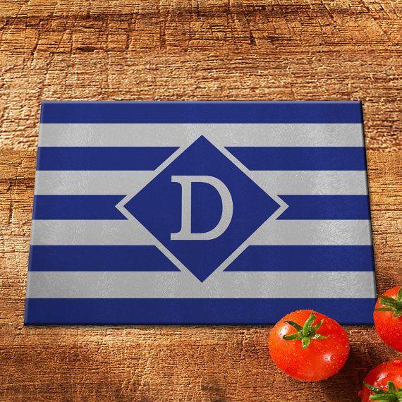 Glass Cutting Board/Personalized Cutting Board/Monogram Cutting Board/Tempered Glass Cutting Board/Custom Cutting Board/Stripe Cutting Board