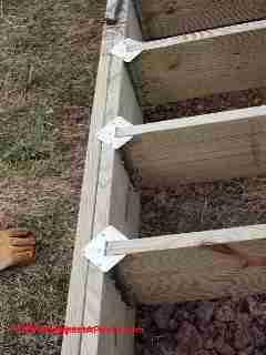 Deck Joist Connection To A Deck Using An Outer Edge Girder A