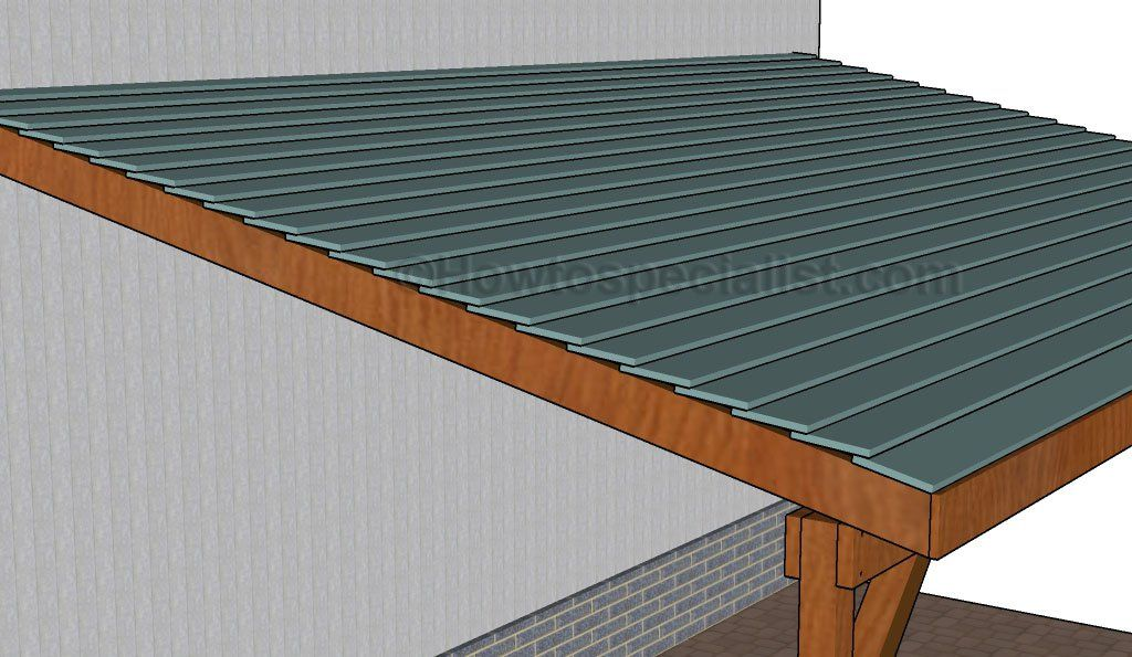 How to build an attached carport Roofing, Carport