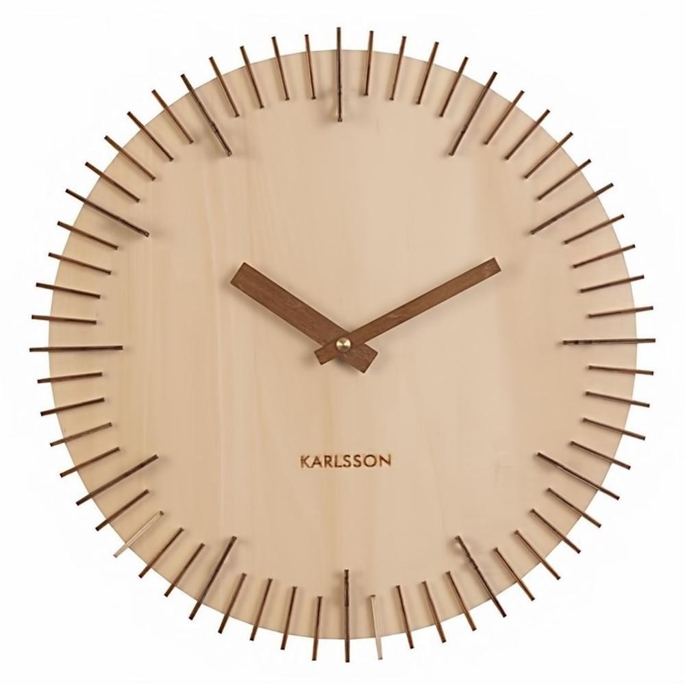 Make Designed Objects Karlsson Clock Rib Light Wood Wall Clock Clock Wall Clock Numbers