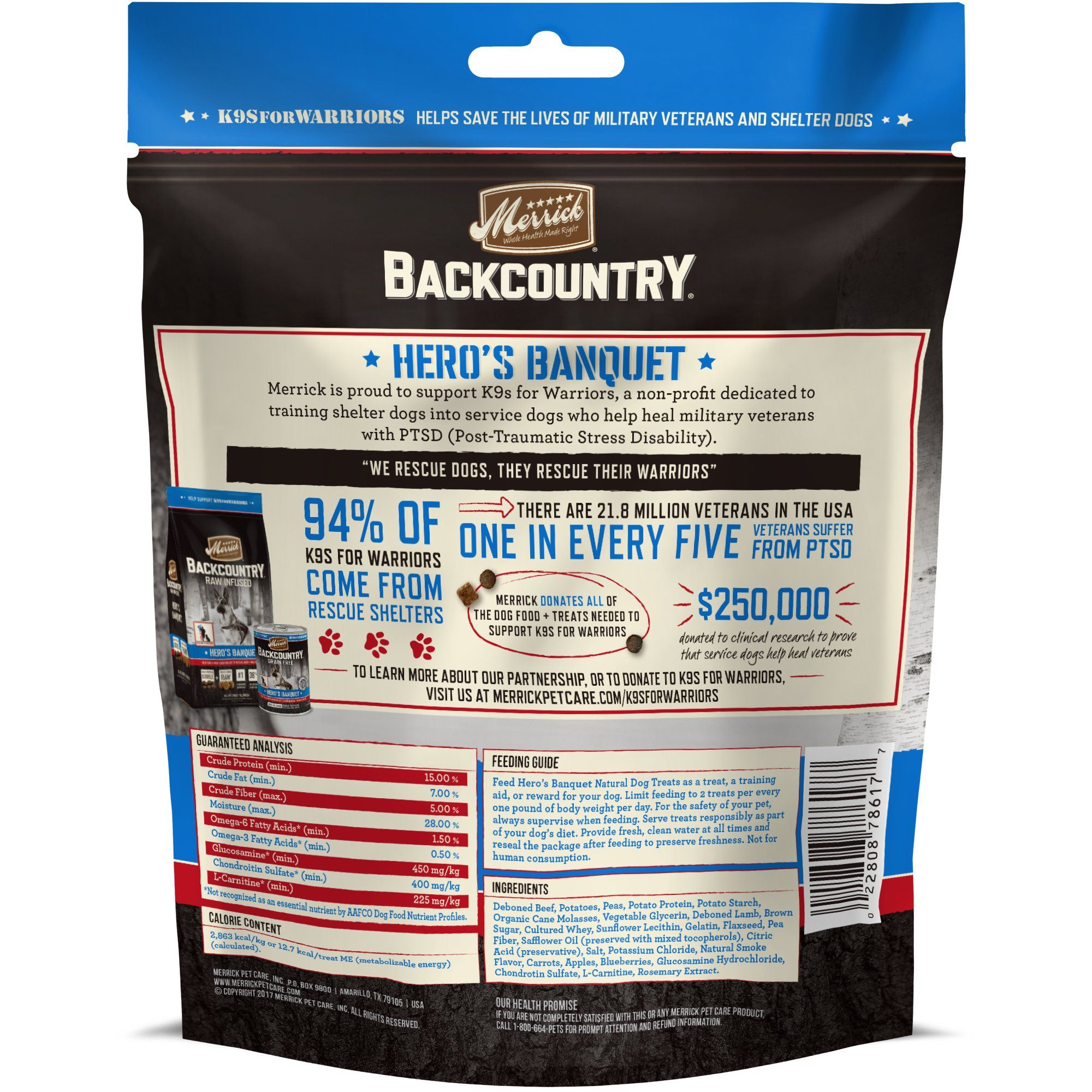 Merrick Backcountry Grain Free Hero S Banquet Dog Treats 6 Oz