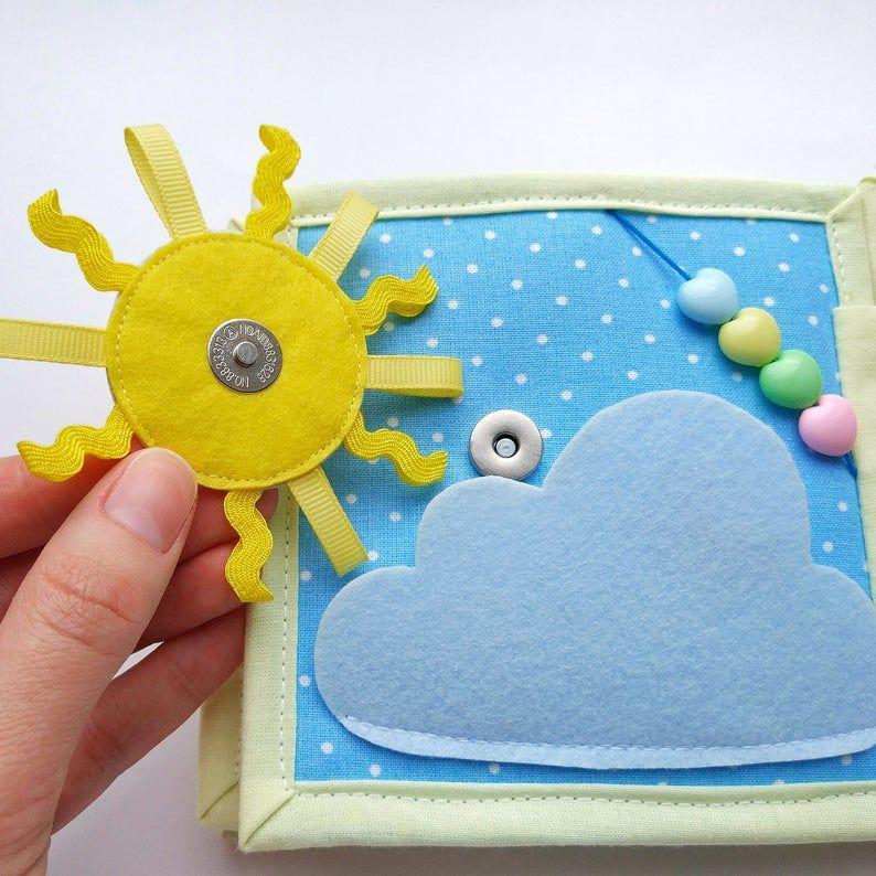 Photo of Mini libro silencioso para bebés a partir de 6 meses, juguetes seguros hechos de materiales naturales respetuosos con el medio ambiente.