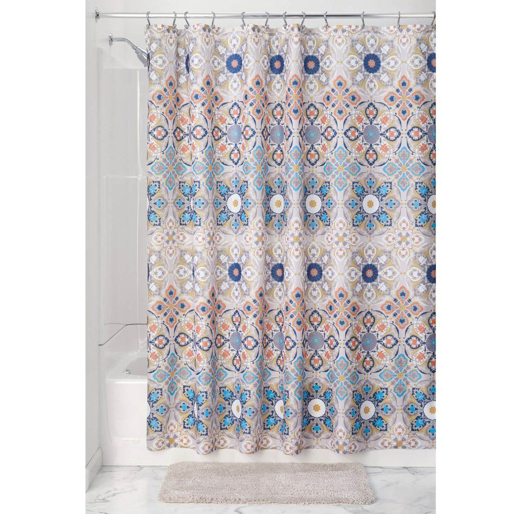 Turkish Tile Shower Curtain | Turkish tiles, Tile showers and Bath room