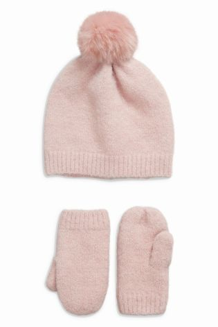 c2a01e5a334 Buy Hat And Mittens Set (Younger Girls) online today at Next  Australia