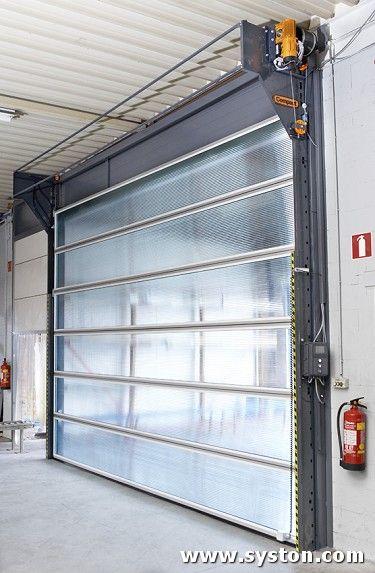 Compact Door With Green Translucent Panels And Optional Powder Coated Finish To Side Tracks And Head Plates Garage Door Design Garage Doors Garage Door Types