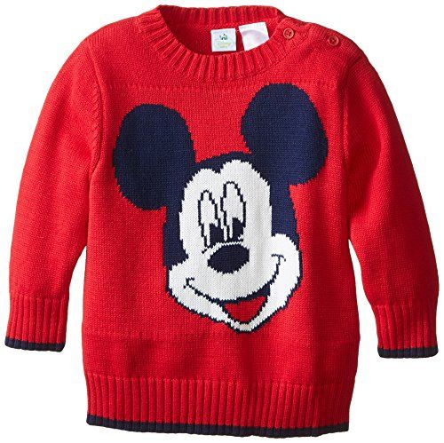 Little Boy Mickey Mouse Sweatshirt Pullover Red