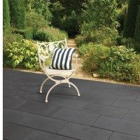Superb Black Provencal 600x400 Concrete Paving Slabs Have Been Designed To Give  The Appearance Of Smooth Black