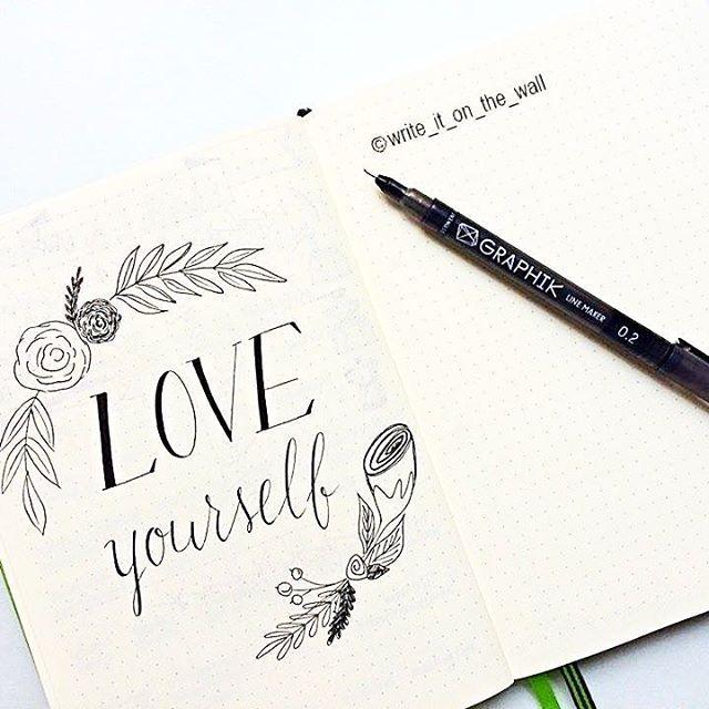 "My advice: Love yourself! ""Amati"" ❣ #planwithmechallenge #leuchtturm #leuchtturm1917 #graphicdesign #bulletjournal #bujo #handlettering #handletteredabcs #moderncalligraphy #lettering #letters #typography #calligraphy #calligraphyph #calligraphyart #derwent #type #typewriter #planner #planneraddict #handmade #handtype #typespire #graphic #bulletjournaling #thedailytype #doodle #bulletjournaljunkies #letteritmay #paper"