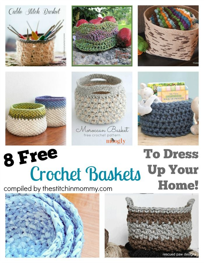 8 Free Crochet Basket Patterns To Dress Up Your Home | Crochet this ...