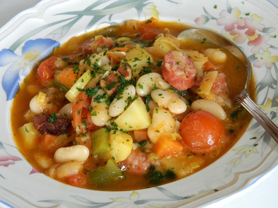 Serbische Bohnensuppe Serbische bohnensuppe, Bohnensuppe und - serbische küche rezepte