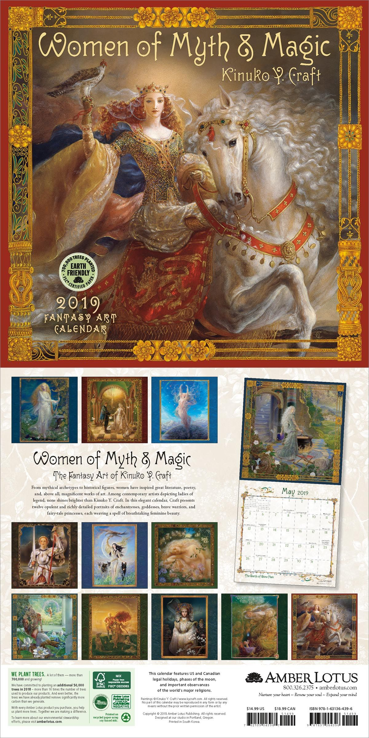 Women Of Myth Magic 2019 Wall Calendar 2019 Wall Calendars