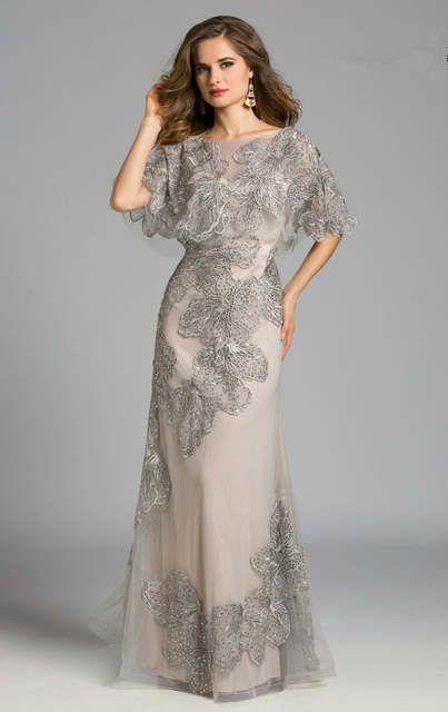 Special Occasion Dresses 2017 new Evening Dresses Appliques with Beading Jacket A-Line Evening Dress Vestidos De Festa