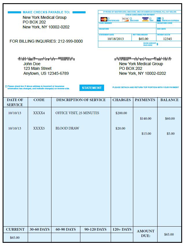 medical bill template pdf free download