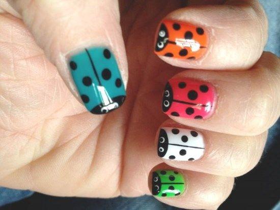 42 Cute Ladybug Nail Art Designs Nail Design Ideaz Uas