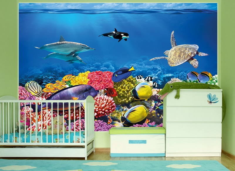 Under The Sea Photo Wall Paper Mural   Great Cheap Alternative To Painting  A Mural Part 89