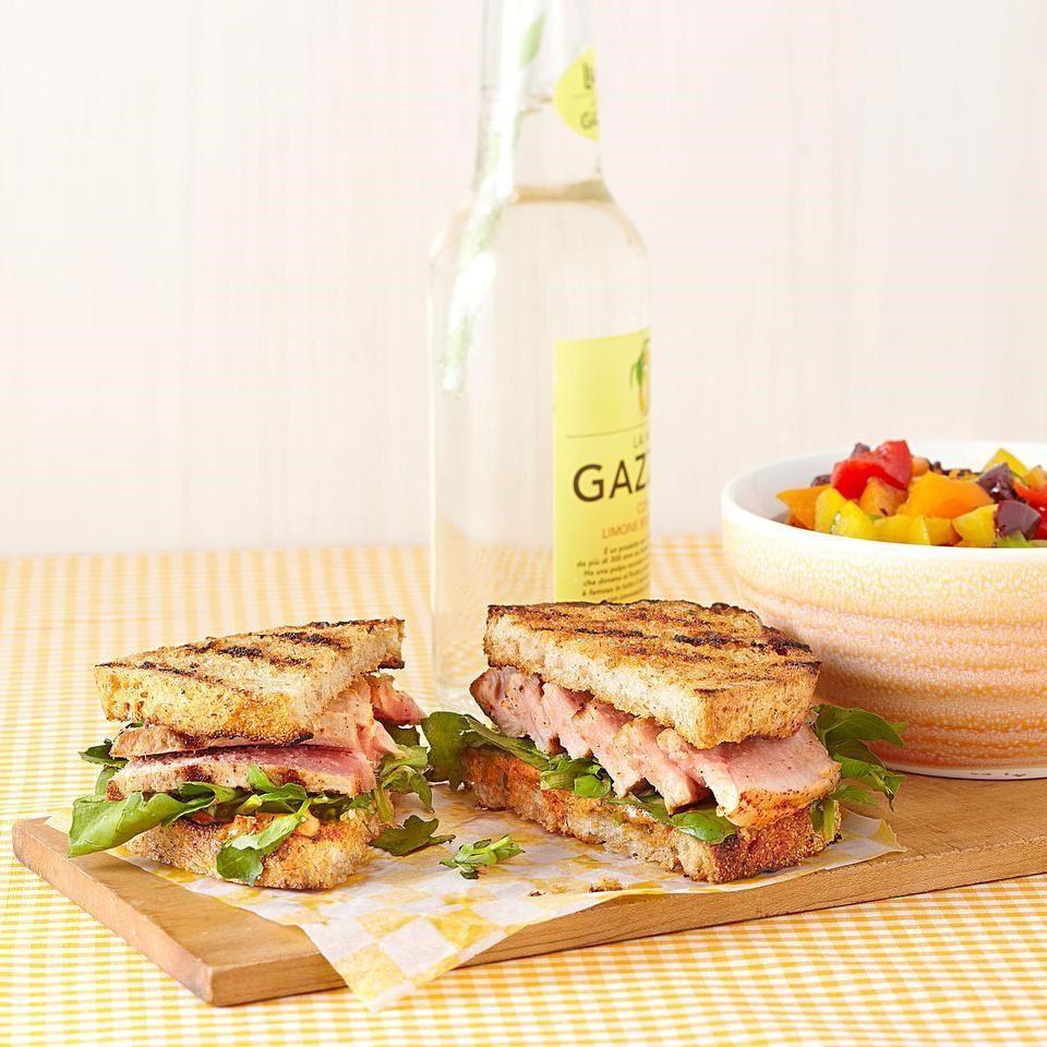 Grilled tuna sandwich with lemonchili mayo recipe
