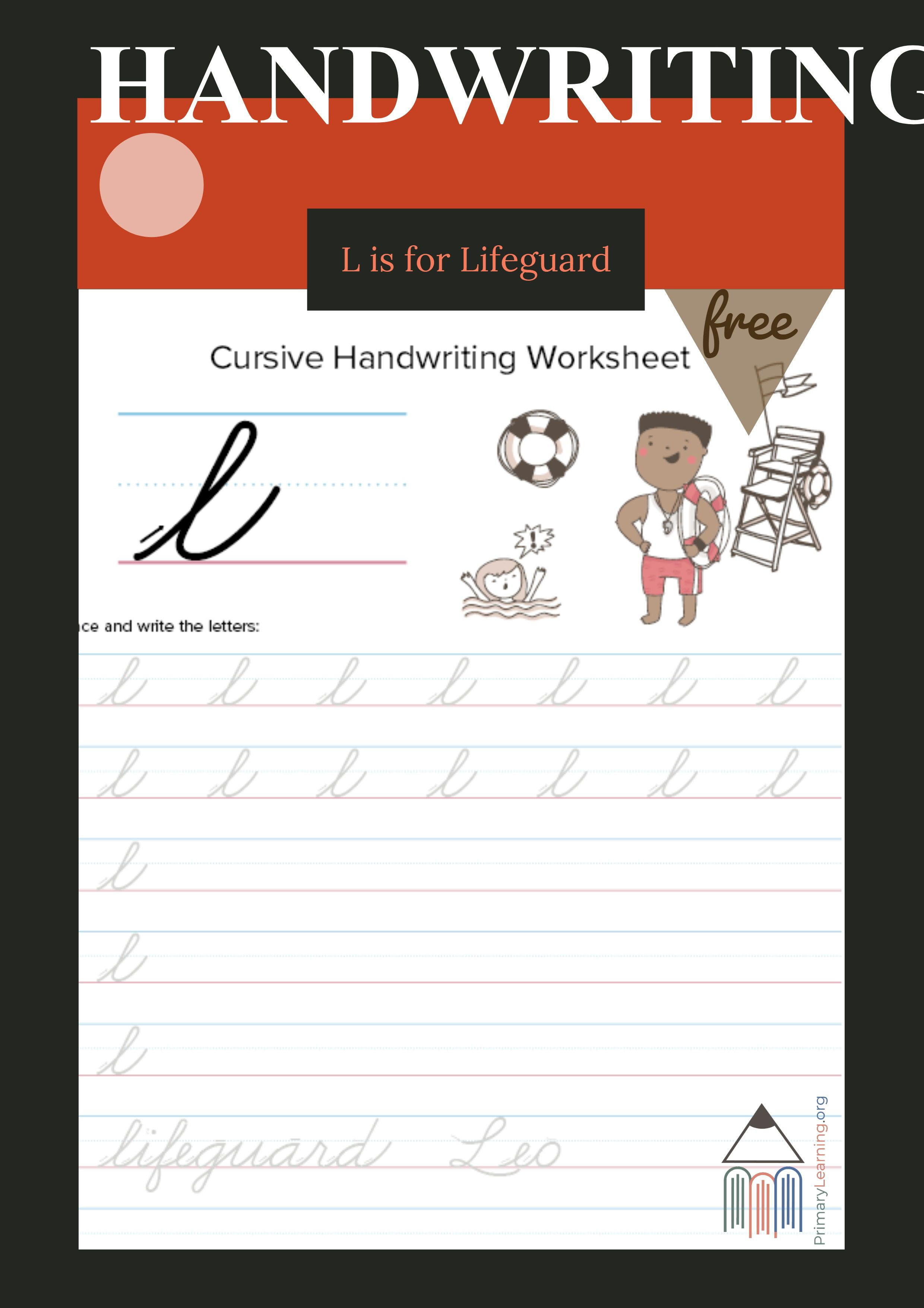 Lowercase Cursive L Worksheet With Images