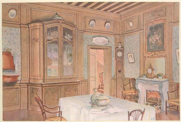 Salle a manger Louis XV de campagne en chêne interiores de - salle a manger louis