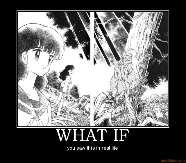 Pretty much exactly what Kagome did....touch his ears.... (._. )