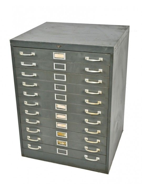 Oversized freestanding 1950s heavy duty american industrial oversized freestanding 1950s heavy duty american industrial salvaged chicago factory multi drawer blueprint filing cabinet malvernweather Gallery