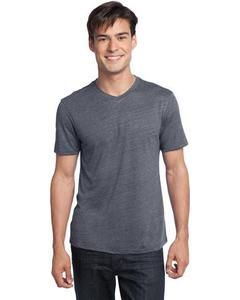 District Dt172 Young Mens Textured Notch Crew Tee Blankshirts