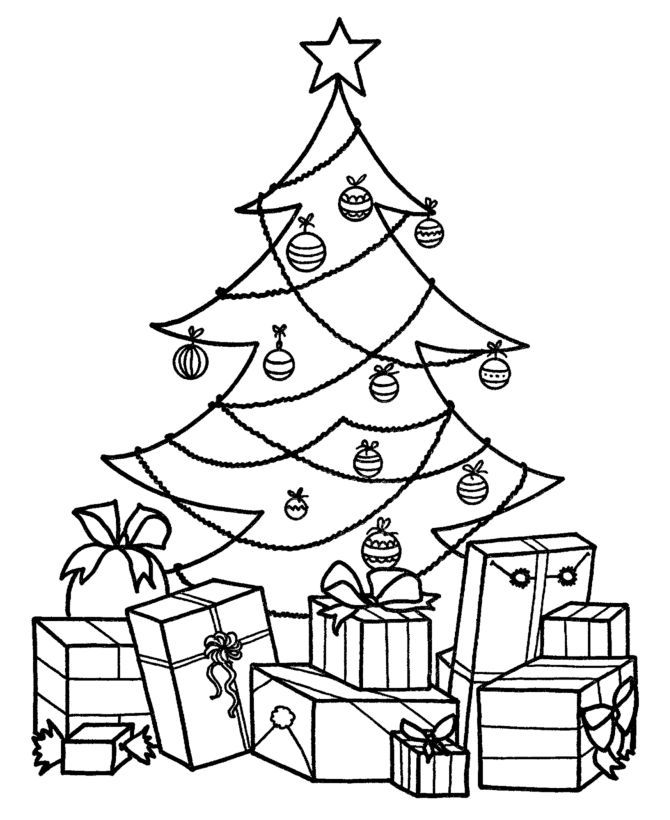 Explore Christmas Tree Coloring Page And More