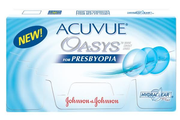 Acuvue Oasys For Presbyopia Features The Unique Optical Design Of