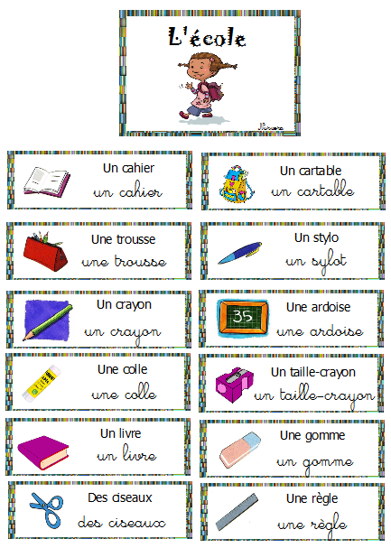 Vocabulaire mur de mots la rentr e l 39 cole cp for Anglais vocabulaire maison