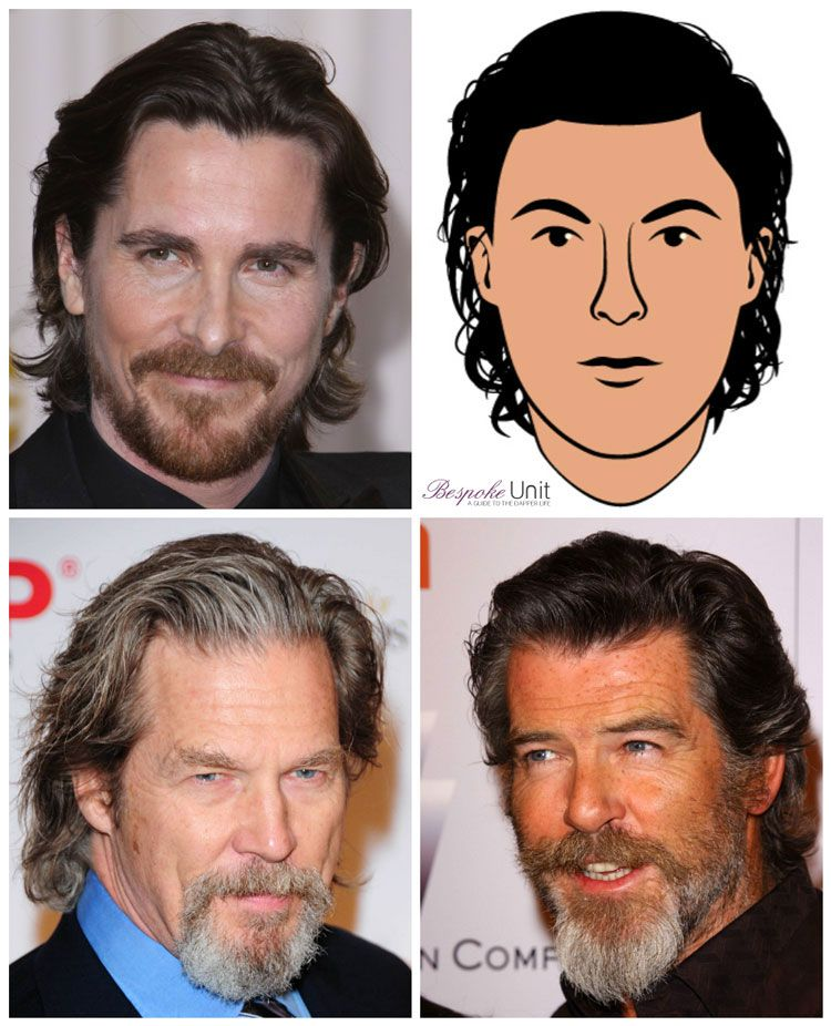 Men S Natural Swept Back Long Hairstyle Guide To Face Shapes Styling Long Hair Styles Men Long Hair Styles Christian Bale Long Hair