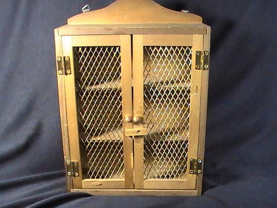 Vintage Miniature Wooden Curio Cabinet, Made in Maine, Display ...