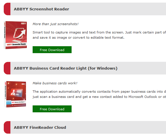 Giveaway abbyy screenshot reader business card reader giveaway abbyy screenshot reader business card reader finereader cloud free license reheart Choice Image