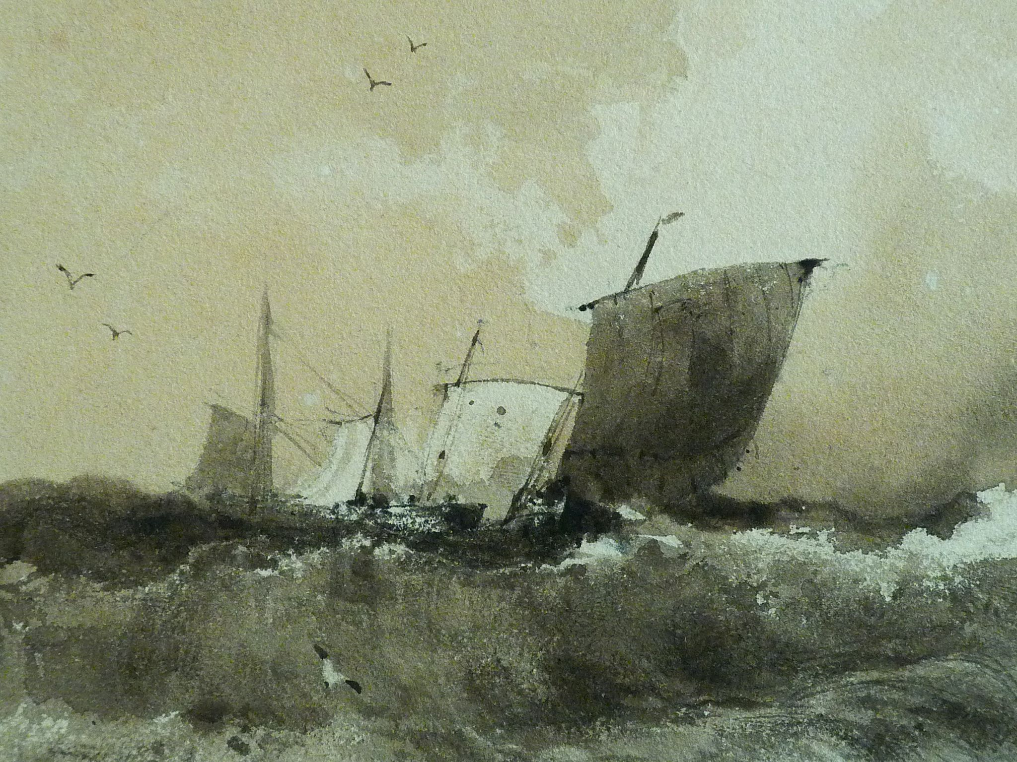 Bonington Richard Parkes 1824 Marine Drawing Dessin Disegno