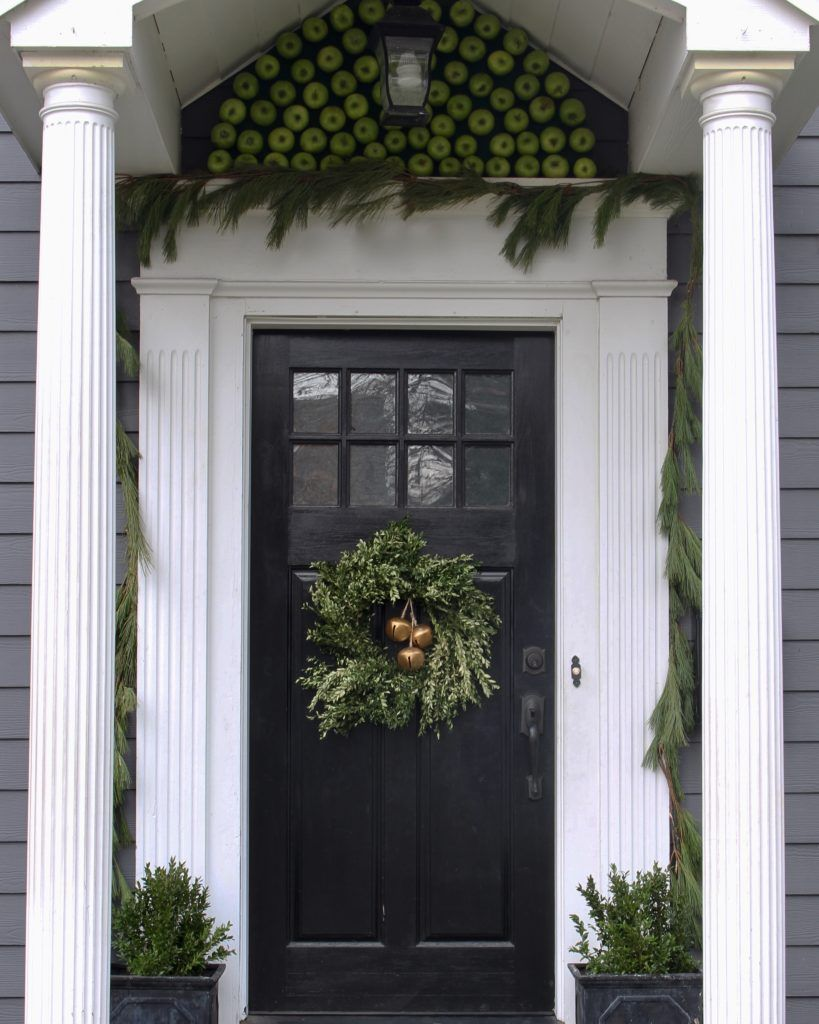 Window decor with wreath  a timeless christmas home tour  all things autumn  pinterest