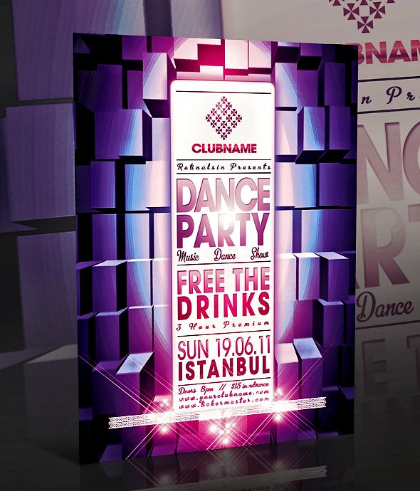 Psd Dance Party Flyer By BiciriqueDeviantartCom On Deviantart