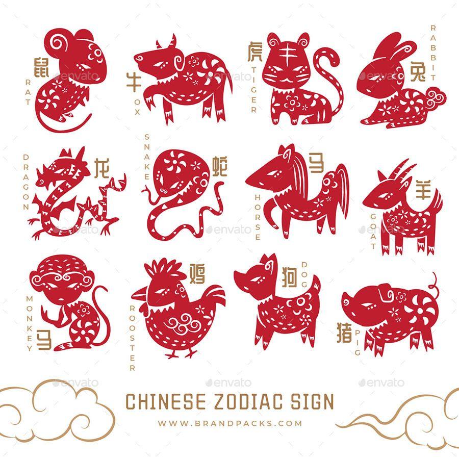 Chinese Zodiac Animal Illustrations Chinese Zodiac Animal Illustration Chinese Illustration