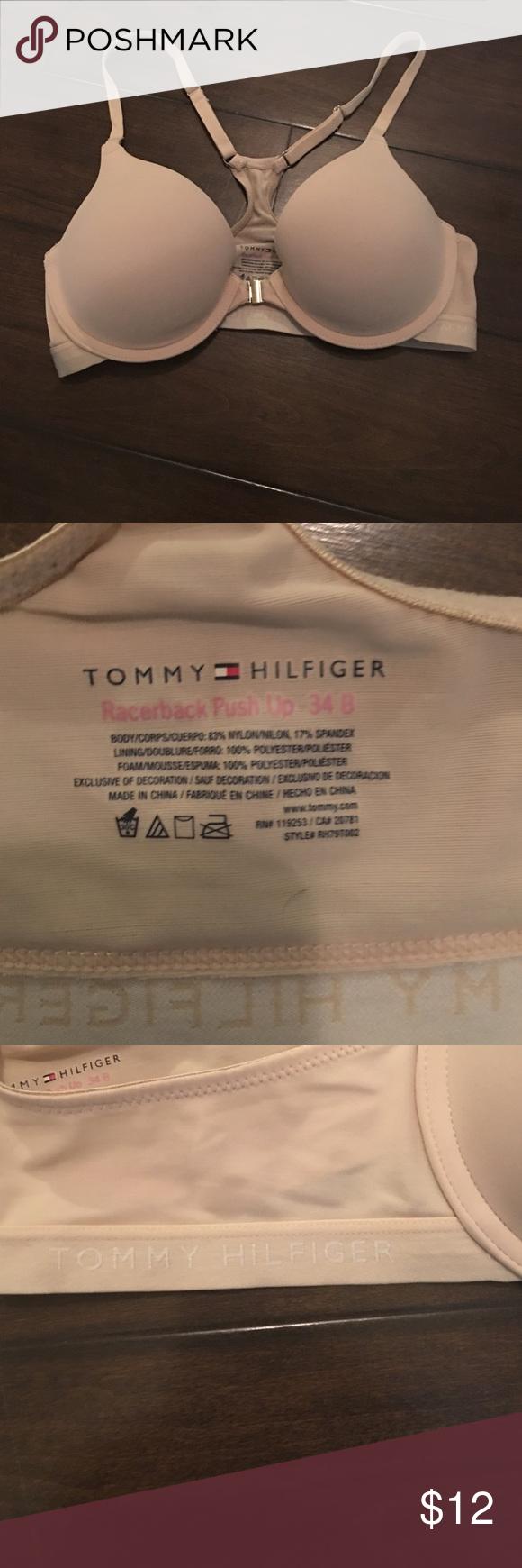 Tommy Hilfiger racer back push up bra Front close racer back push up bra size 34B in nude Tommy Hilfiger Intimates & Sleepwear Bras