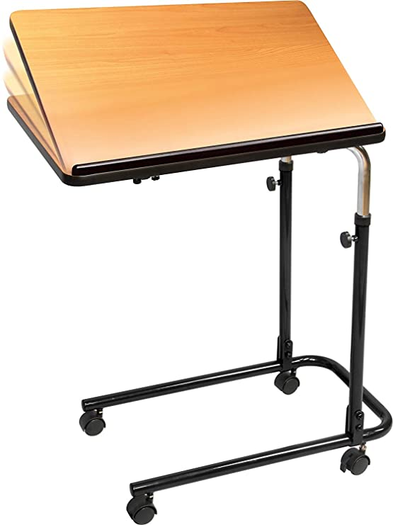 Carex Home Overbed Table with Tilting Top