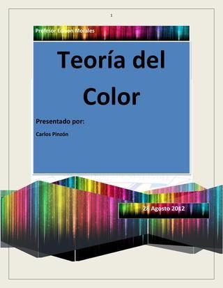 Teoria del color pdf en 2019 Color, Teoría y Pinturas