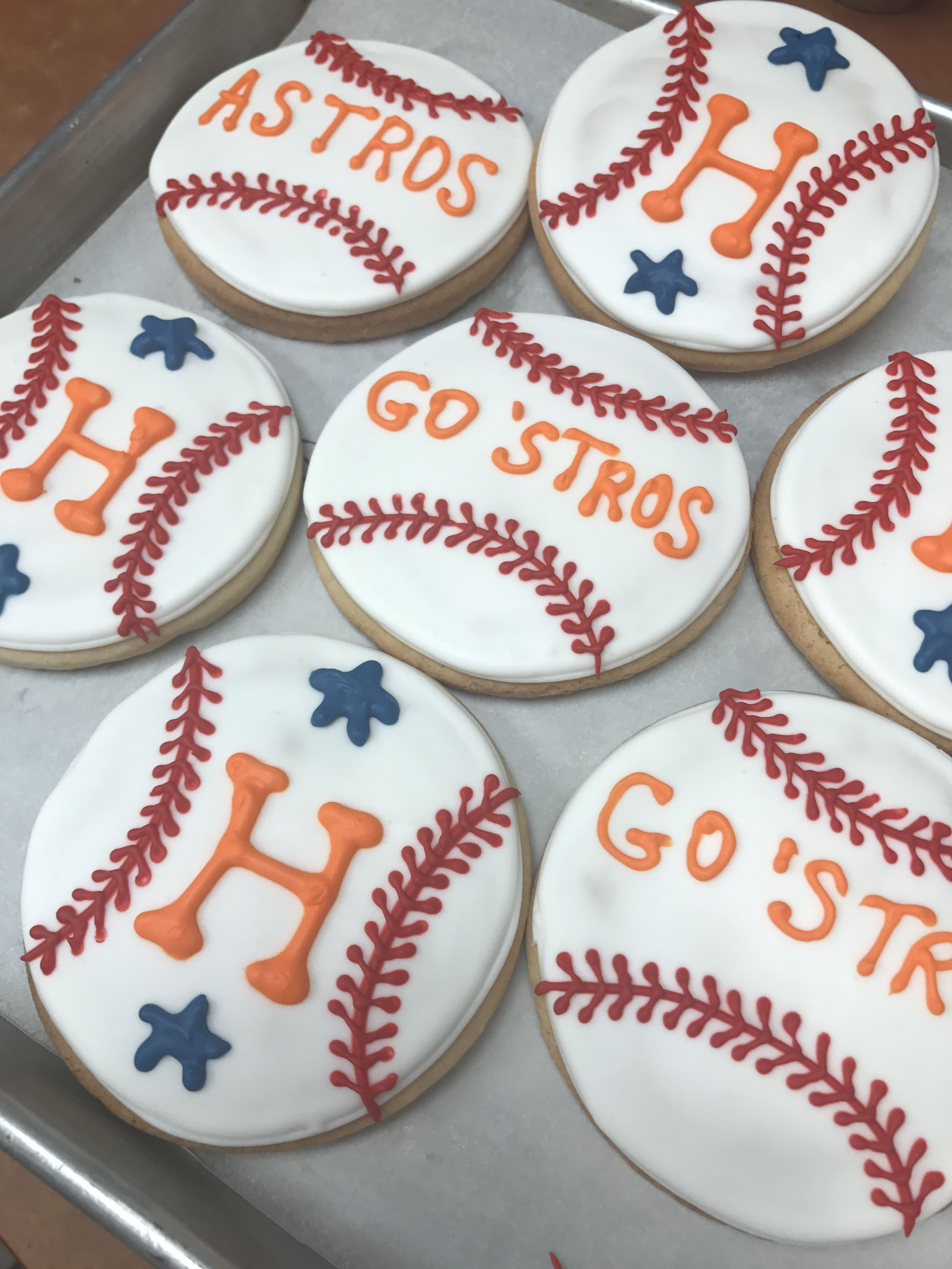 Houston Astros Decorated Cookies Yummy Pinterest Cookie
