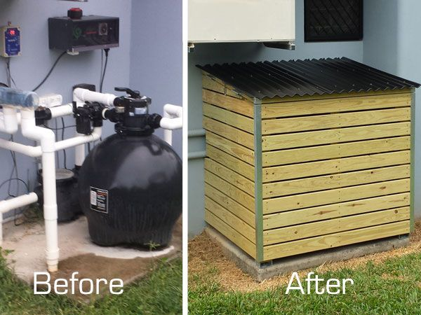 Pool-pump-cover-constructio | Pool in 2019 | Pool equipment